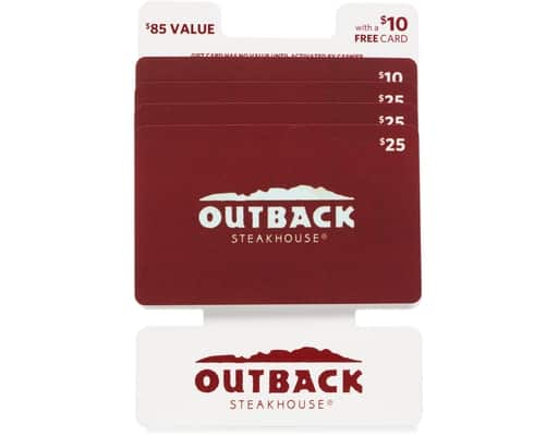 $85 Outback Steakhouse Giftcard $67.99 or less at Boxed.com Free Shipping  **no referral linking**