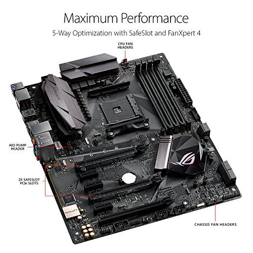 ASUS ROG STRIX B350-F GAMING AMD Ryzen AM4 DDR4 HDMI DisplayPort M.2 USB 3.1 ATX B350 Motherboard $89.99