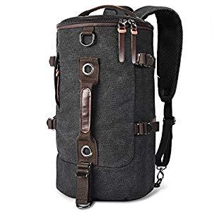 4d2d848e4c LUXUR Retro Duffel Cylinder Bag 26L Canvas Travel Backpack for Men Hiking  Luggage Weekend Bag  16.79