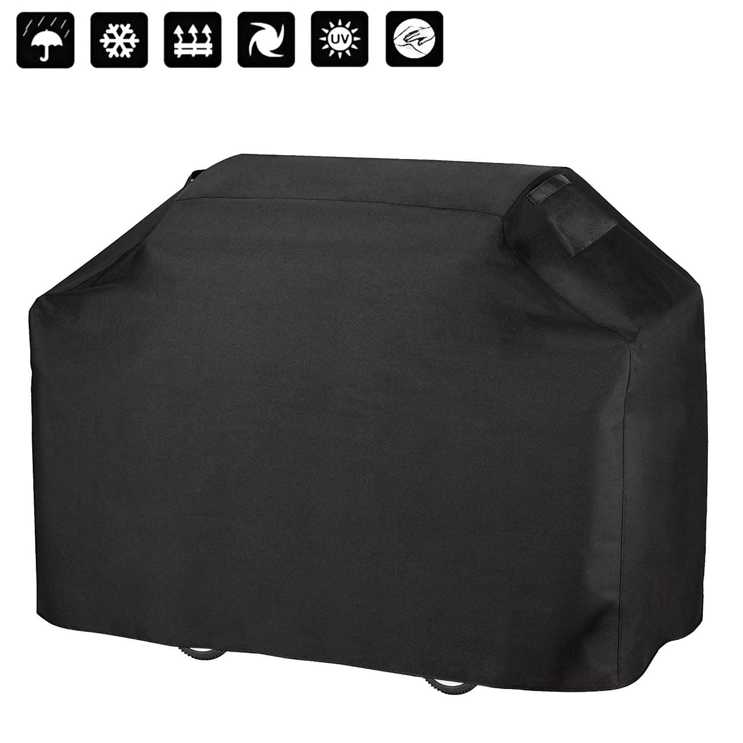 Anglink BBQ Grill Cover, 58 inches Heavy Duty Waterproof Barbecue Cover with Double Stitching and Heat Sealed Seams, 600D Oxford Rip-Stop Gas Grill Cover $15.99