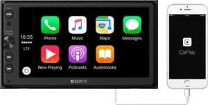"Sony XAV-AX100 6.4"" Car Play/Android Auto Media Receiver with Bluetooth - Seller refurbished"