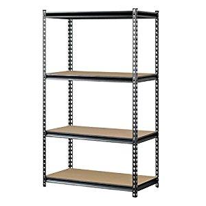 "Muscle Rack 4-Shelf Steel Storage Rack (36""x18""x60"") FS w/ Prime $33.8"