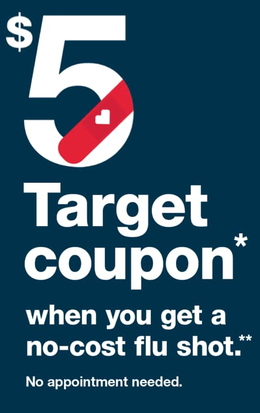 $5 Target coupon with no-cost flu shot