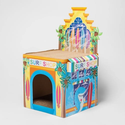 target in store clearance- Cat Scratch House - Surf Shop Sun Squad™ $6