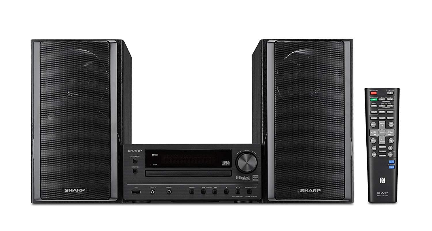 Sharp XL-HF203B Hi-Fi Component Stereo Speaker System with High Resolution Audio $149.99