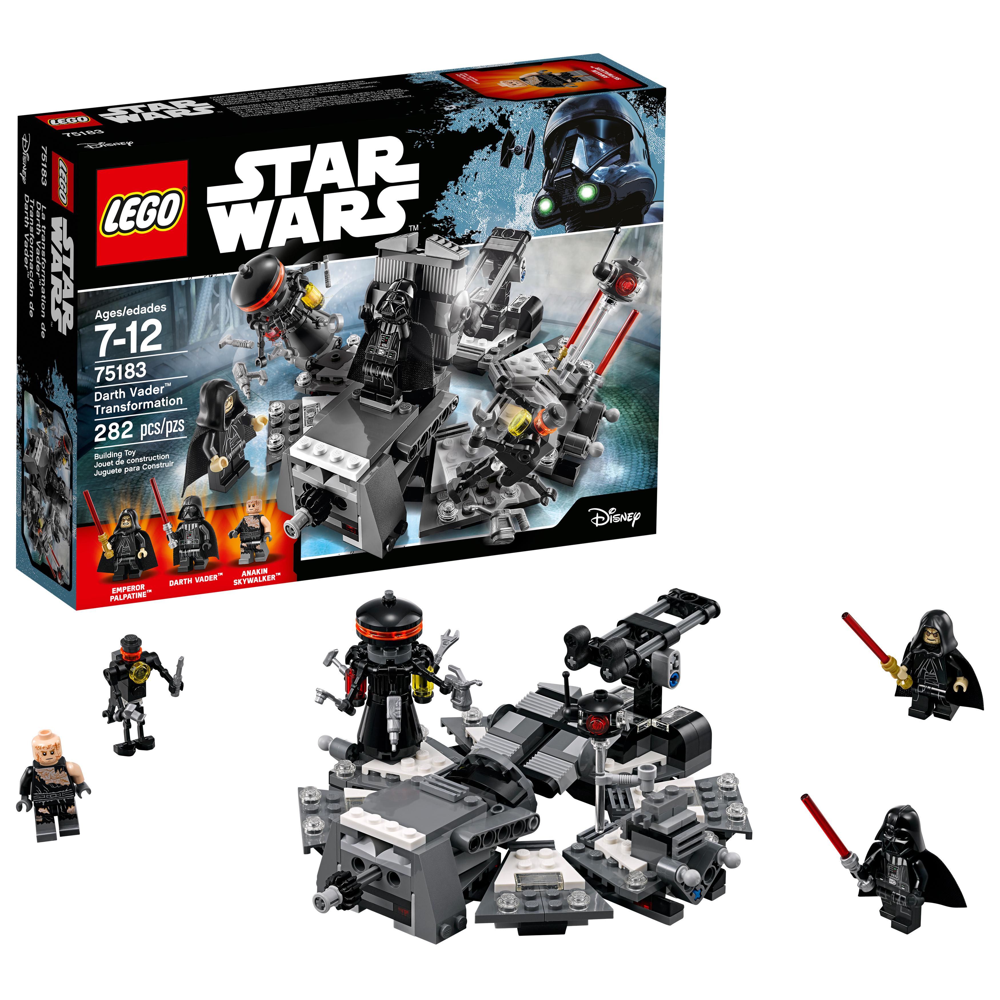 LEGO Star Wars TM Darth Vader Transformation 75183 (282 pcs, $13.99