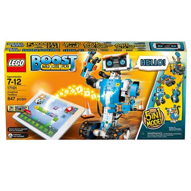 LEGO Boost Creative Toolbox 17101 Fun Robot Building Set and Educational Coding Kit for Kids, Award-Winning STEM Learning Toy (847 Pieces) $102