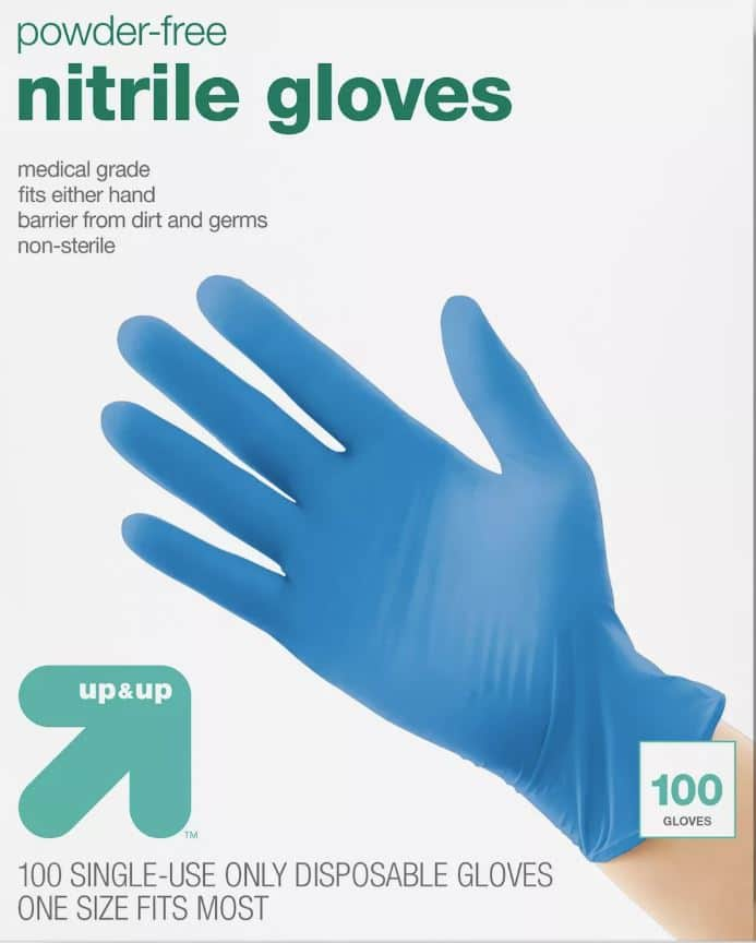 Nitrile Exam Gloves one sz fits most- 100ct - Up&Up™/Target brand- $7.99 - minimum order to ship