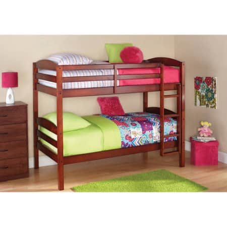Lovely Better Homes and Gardens Leighton Twin Over Twin Wood Bunk Bed with BONUS Mattresses w FS Slickdeals net