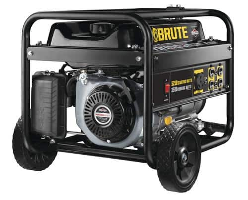 Brute 5,250W Peak/3,500W Running Portable Generator at Menards $299 AR B&M YMMV