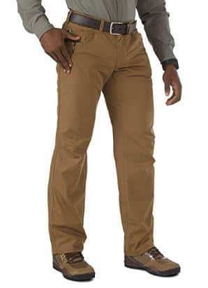 5.11 Tactical Men's Ridgeline Covert Work Pants, Teflon Finish, Poly-Cotton Ripstop Fabric, Style 74529