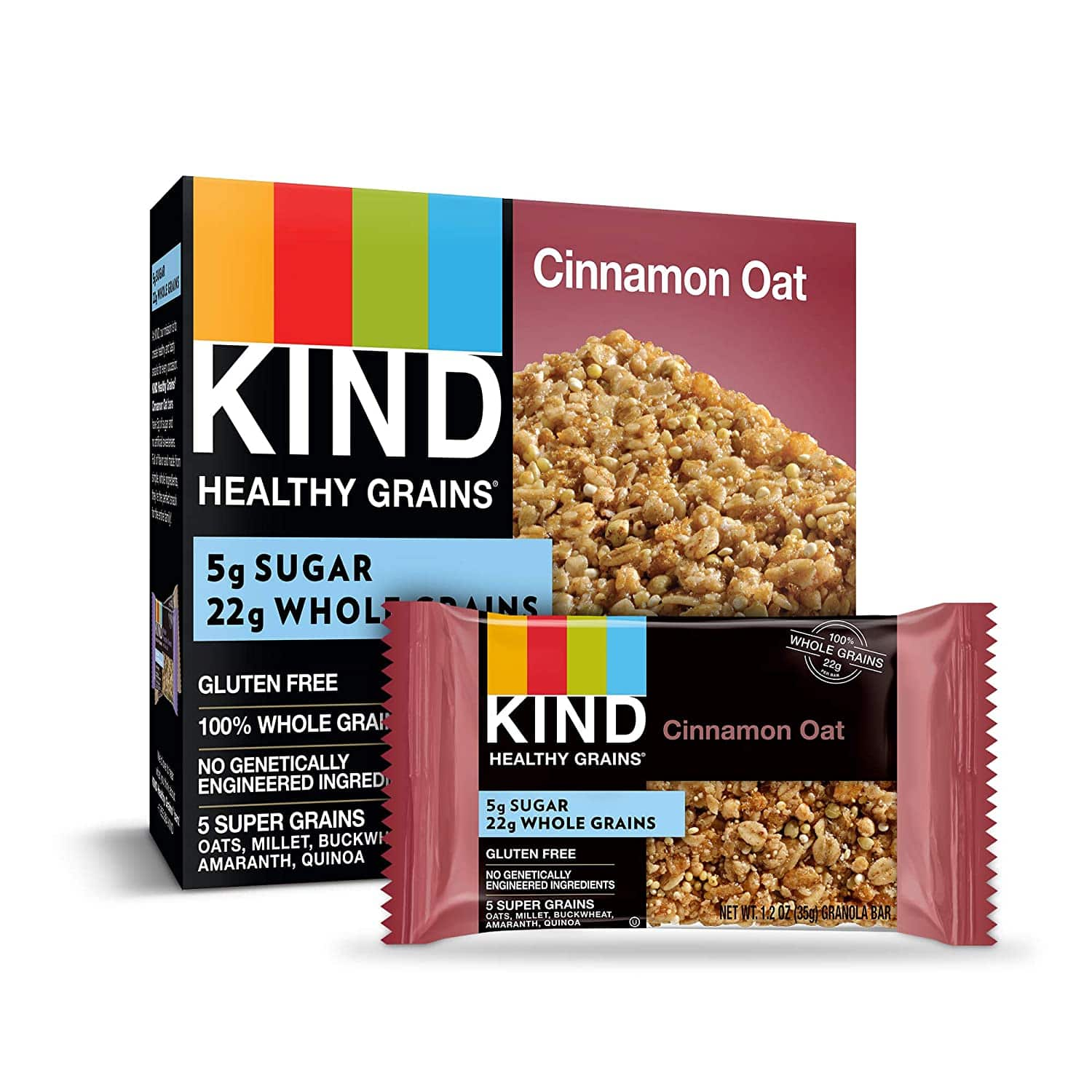 40-Count 1.2-Ounce KIND Healthy Grains Bars (Cinnamon Oat) $11.05 w/ Subscribe & Save