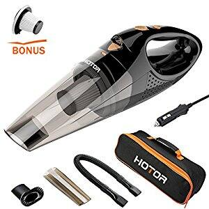 HOTOR DC12-Volt Wet/Dry Portable Handheld Auto Vacuum Cleaner with Carry Bag for Car $19.52+ FS w/Prime at Amazon