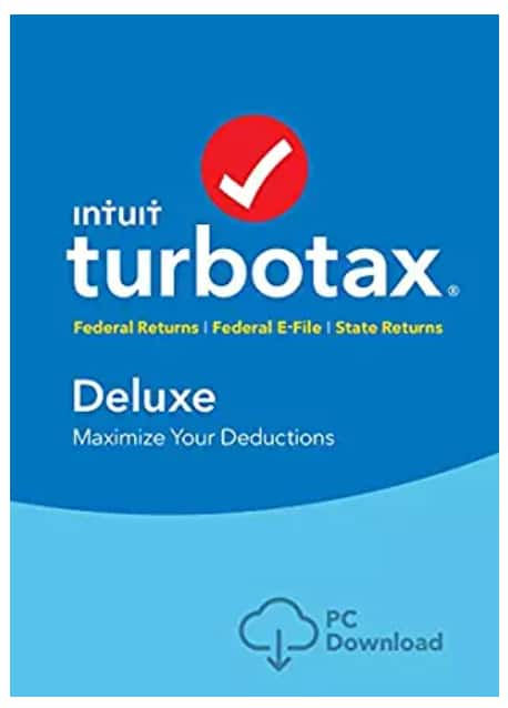 Intuit TurboTax Deluxe + Federal + E-File + State Digital Download - Amazon.com - $39.86