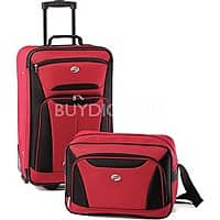 BuyDig Deal: American Tourister Fieldbrook II Two-Piece Luggage Set (Black, Red/Black, Purple/Grey ) $34.99 + Free Shipping
