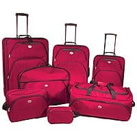Rakuten (Buy.com) Deal: American Tourister 7 Piece Luggage Set in Red or Blue $100