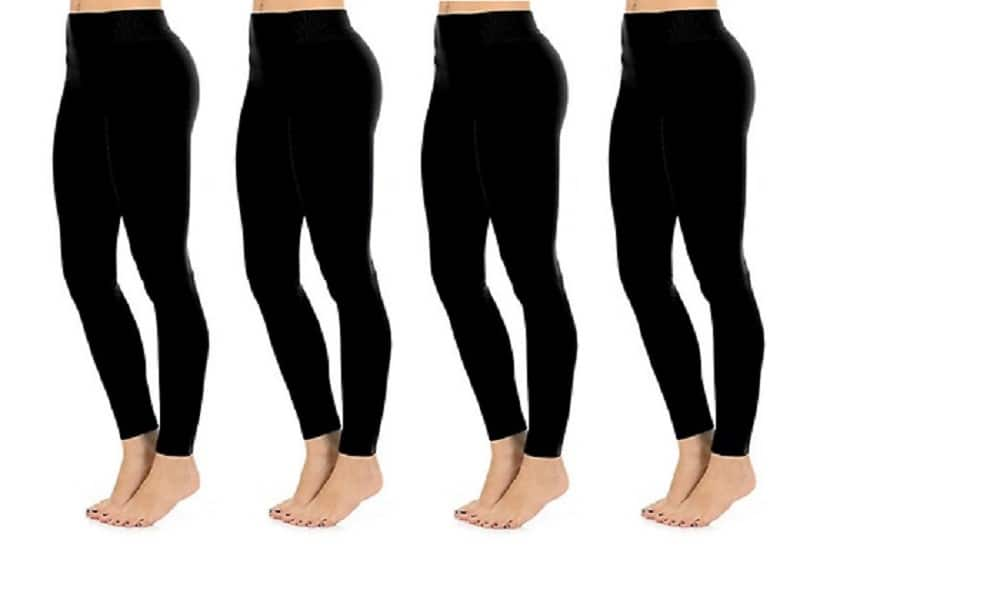 Fashionable Legs 4-Pack Seamless Full Length Leggings Midnight Black One Size $12.99 + Free Shipping , 4-Pack Fleece Leggings $17.99, 6-Pack Fleece Leggings $24.99 + Free Shipping