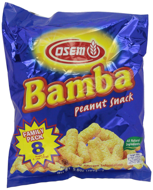 **Back**8-Pack of .7oz Bamba Peanut Snack $2.21 w S&S