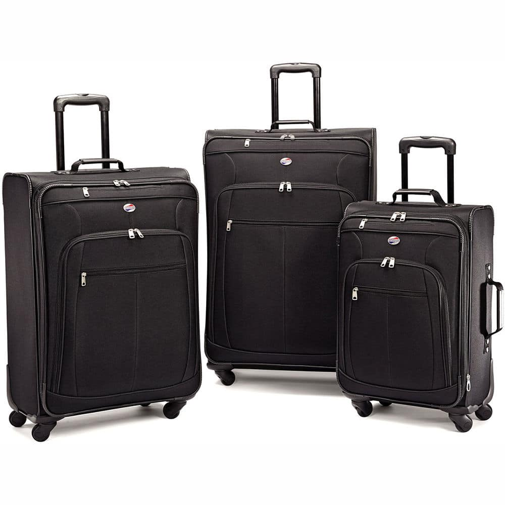 American Tourister Pop Plus 3 Piece Nested Spinner Luggage Set in Black or Blue $89.99 + Free Shipping