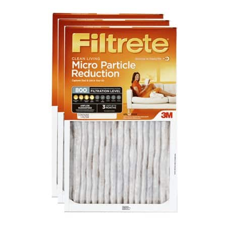 3-pack 3m filtrete allergen defense hvac furnace filters (800 mpr ...