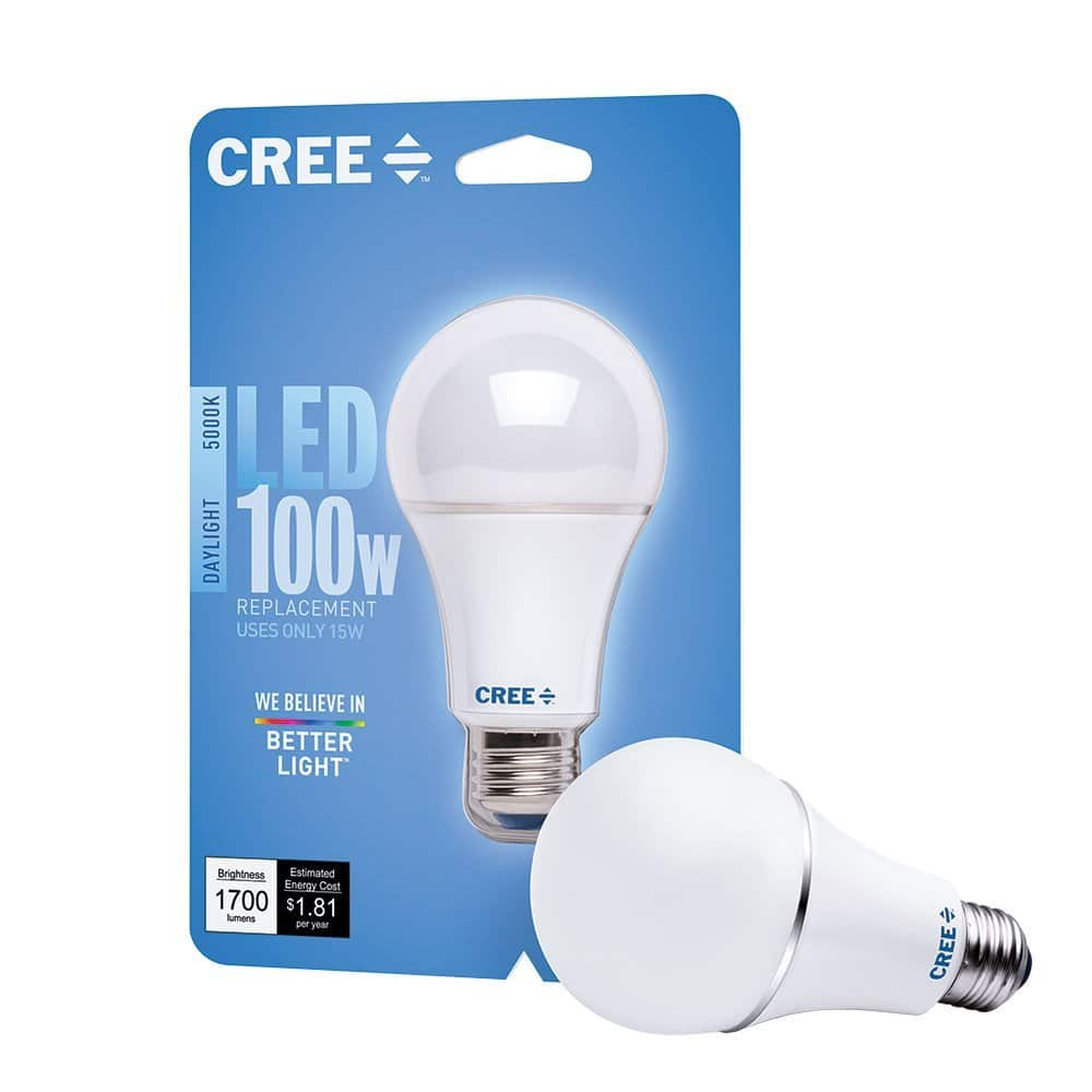 Cree 100w Led Dimmable Light Bulb Daylight 5000k A21 For