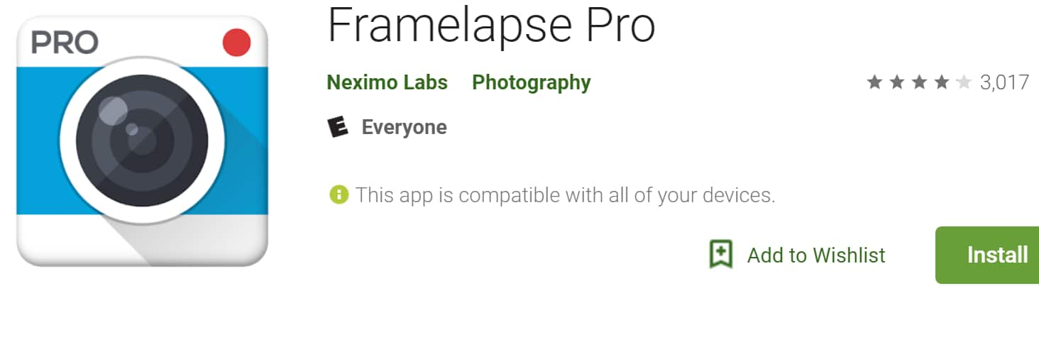 Framelapse Pro (Android app) Create Time-Lapse Videos With Your Phone -  Free