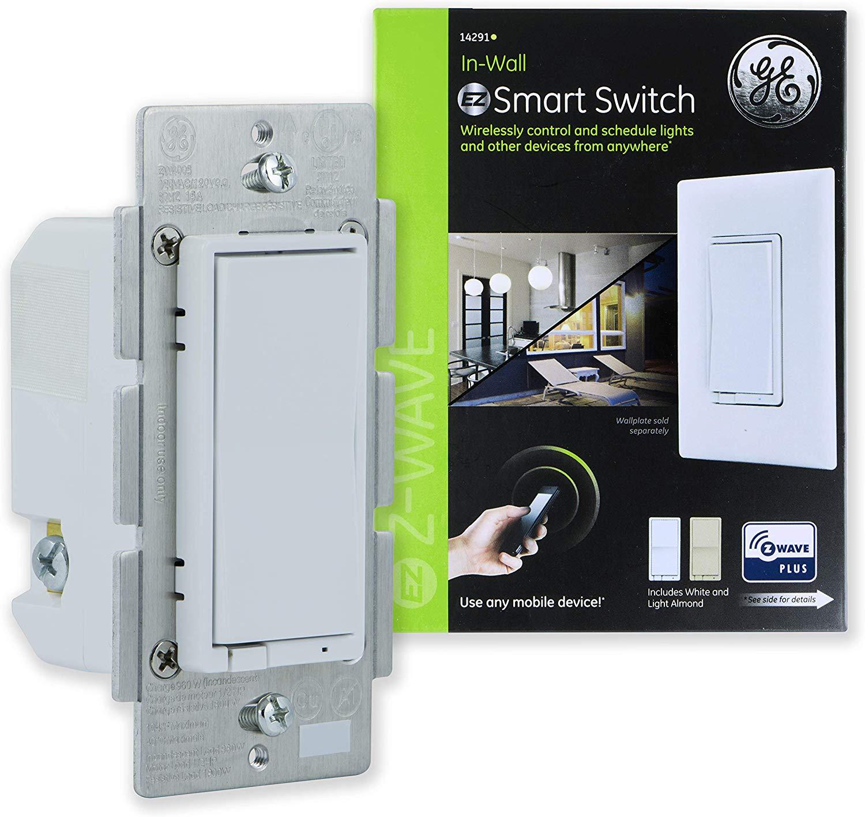 GE, White & Light Almond, Enbrighten Z-Wave Plus Smart Light Switch $29.98 Free shipping