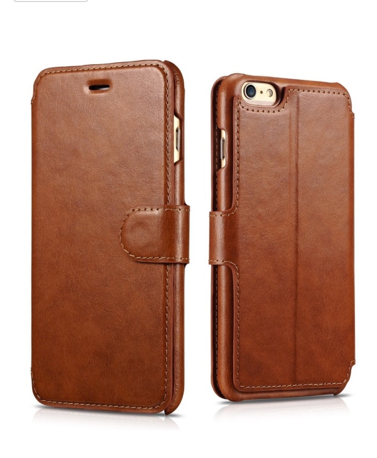 61% off iPhone 6s/6s Plus/6/6 Plus Functional Leather Wallet Case - $7.99 AC+FS @Amazon