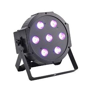 GBGS LED Up Lighting RGBW Par Light 10W x 7 LED DMX 4-in-1 Par Can Stage Lighting for $39.99