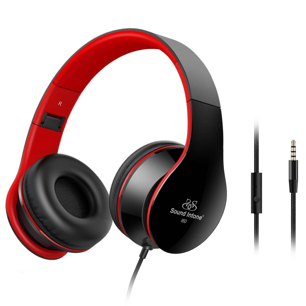 Sound Intone Lightweight Folding 3.5mm Stereo Headsets for $9.88 AC @Amazon