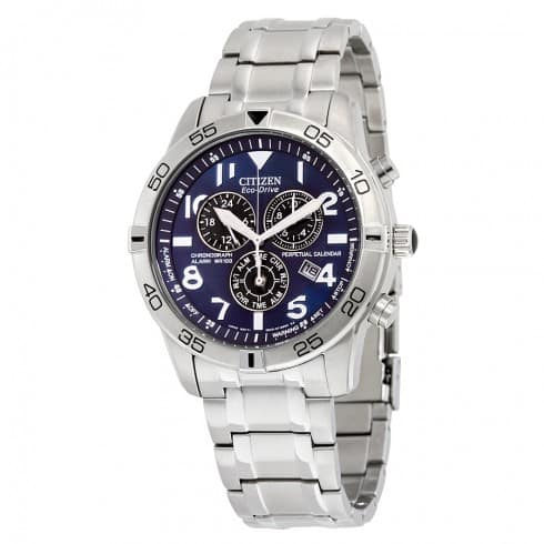 CITIZEN Perpetual Calendar Eco-Drive Chronograph Blue Dial Men's Watch $209.99 AC + FS