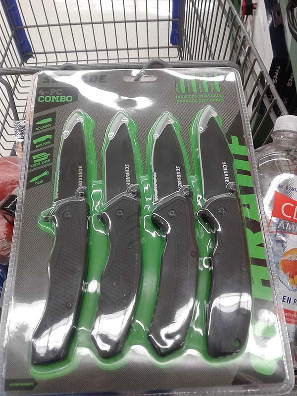 Schrade 4-pc combo folding pocket knife set $19.97 @ Walmart IN-STORE ONLY (YMMV)