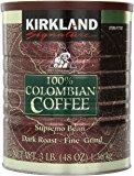 Kirkland Signature 100% Colombian Coffee Supremo Bean Dark Roast-Fine Grind, 6 Pound , $27.95 Free Shipping