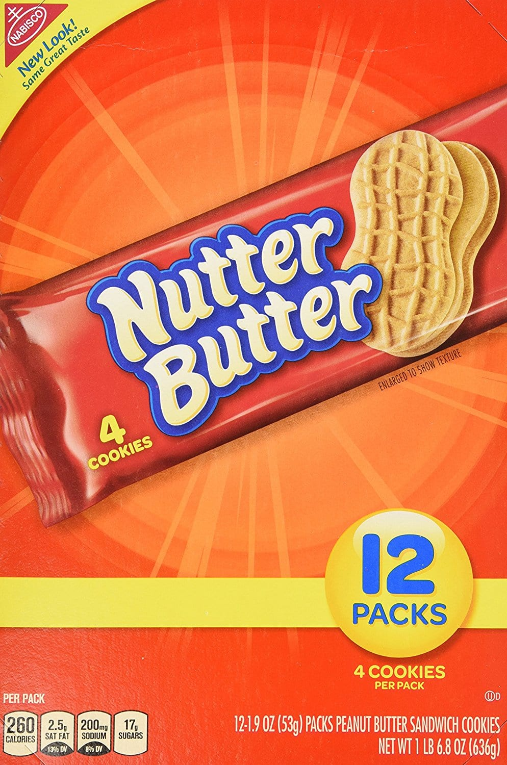 Nutter Butter Peanut Butter Sandwich, 1.9-Ounce Single Serve Bags (Pack of 48) $16.97 w/ Amazon 5 S&S items; $18.96 w/ less than 5.