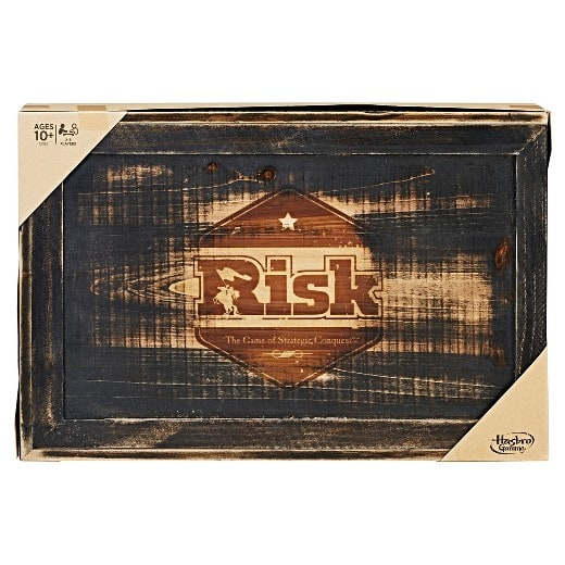 Target & Cartwheel: Risk - Rustic Series Board Game.  Wood pieces. $26.99