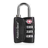 Amazon Deal: TSA Lock - Alaska Bear TSA Accepted Luggage Lock For Travel Heavy Duty With Sturdy Shackle, 3-Digit Set-Your-Own Combination Lock, Lifetime Warranty - $4.99 AC + FS via Amazon