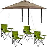 Instant Canopy Pagoda 13' x 13' straight leg + 4 camping chairs $108 (Or less, see thread) at Wal-Mart