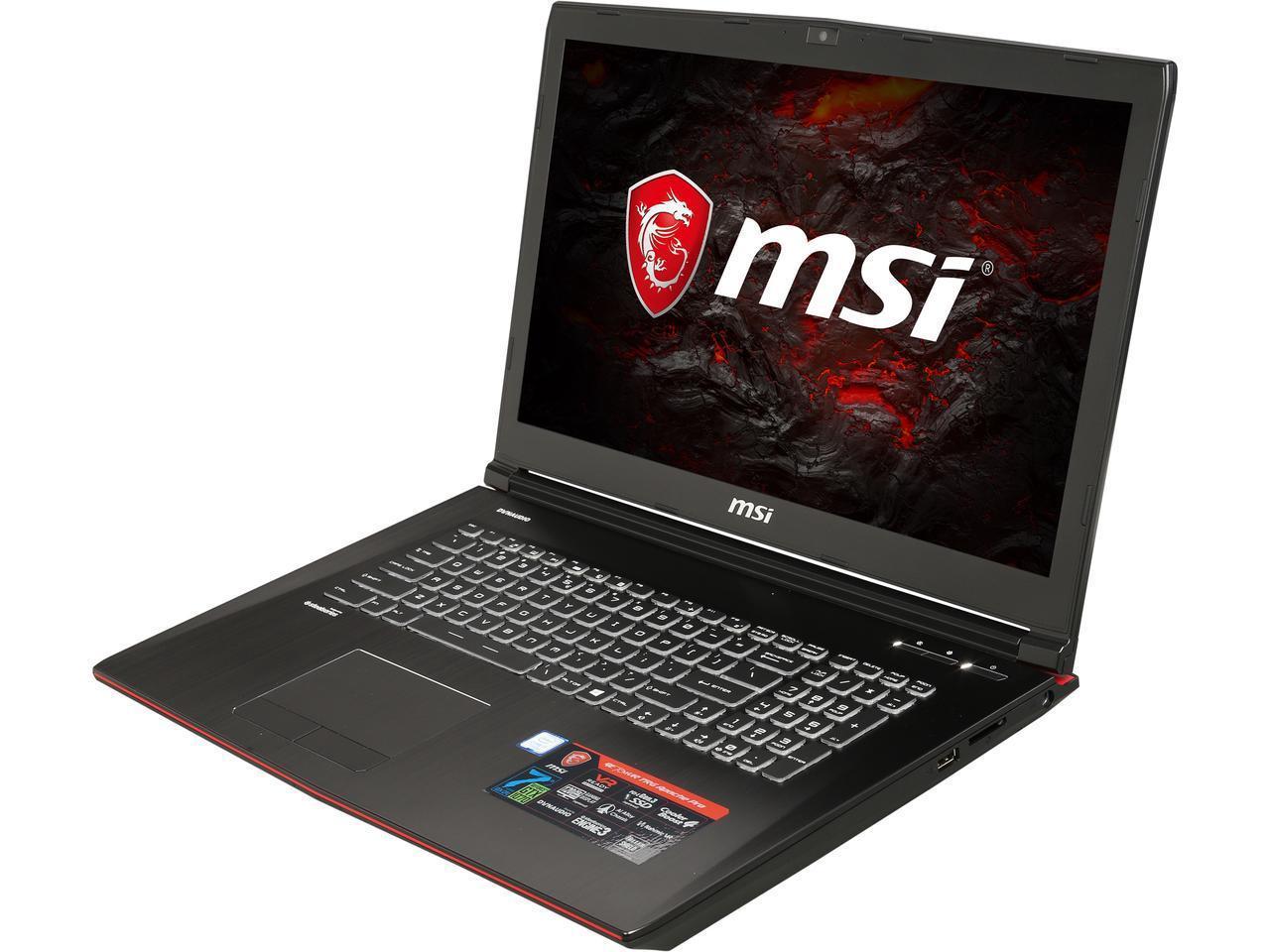 MSI GE72MVR APACHE PRO-080 17.3 & 120 Hz GTX 1070 8GB VRAM i7-7700HQ 16GB Memory 128 GB NVMe SSD + 1TB HDD Laptop $1049 After $200 Rebate & PROMO Code