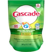 Walmart Deal: Cascade Dishwasher Dish Detergent ActionPacs Free + $1 back with $5 Rebate