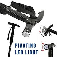 13deals.com Deal: Anti-Shock Telescoping Walking Stick w/ 9 LED Light and Compass - One for $10 or Three for $24! - (Free Shipping)