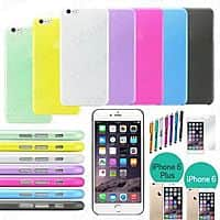 """eBay Deal: Ultra Thin Matte Hard Back Skin Case  4.7"""" iPhone 6/5.5"""" iPhone 6 Plus  $1.99 - $2.99+ Free Shipping (Includes Screen Protective Film, Microfiber Cloth and Stylus) Multiple colors"""