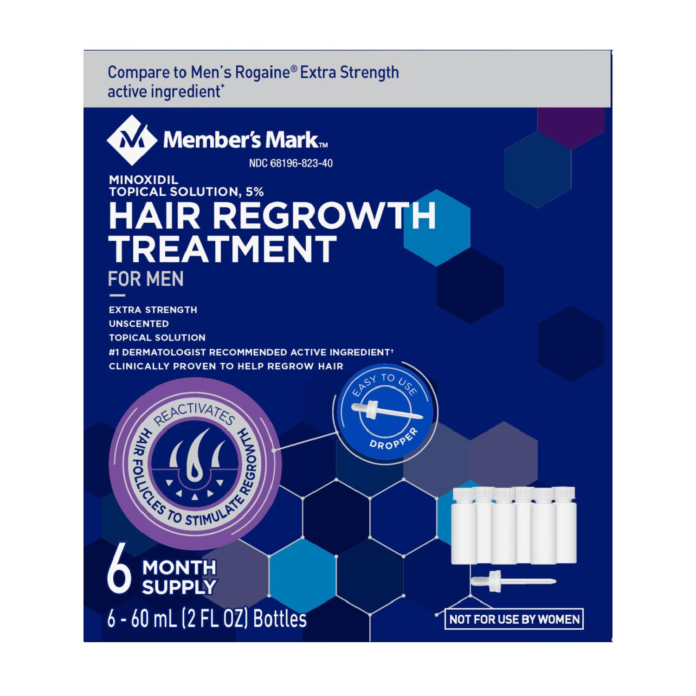 Member's Mark Minoxidil 5%, Hair Regrowth Treatment for Men (2 fl. oz., 6 ct.) $16.88