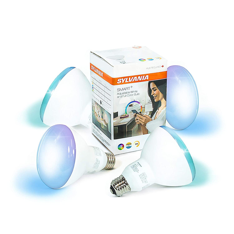 SYLVANIA General Lighting 75584 Sylvania Smart+ ZigBee Changing and Dimmable BR30 LED Bulb, 65-Watt Equivalent $23.95