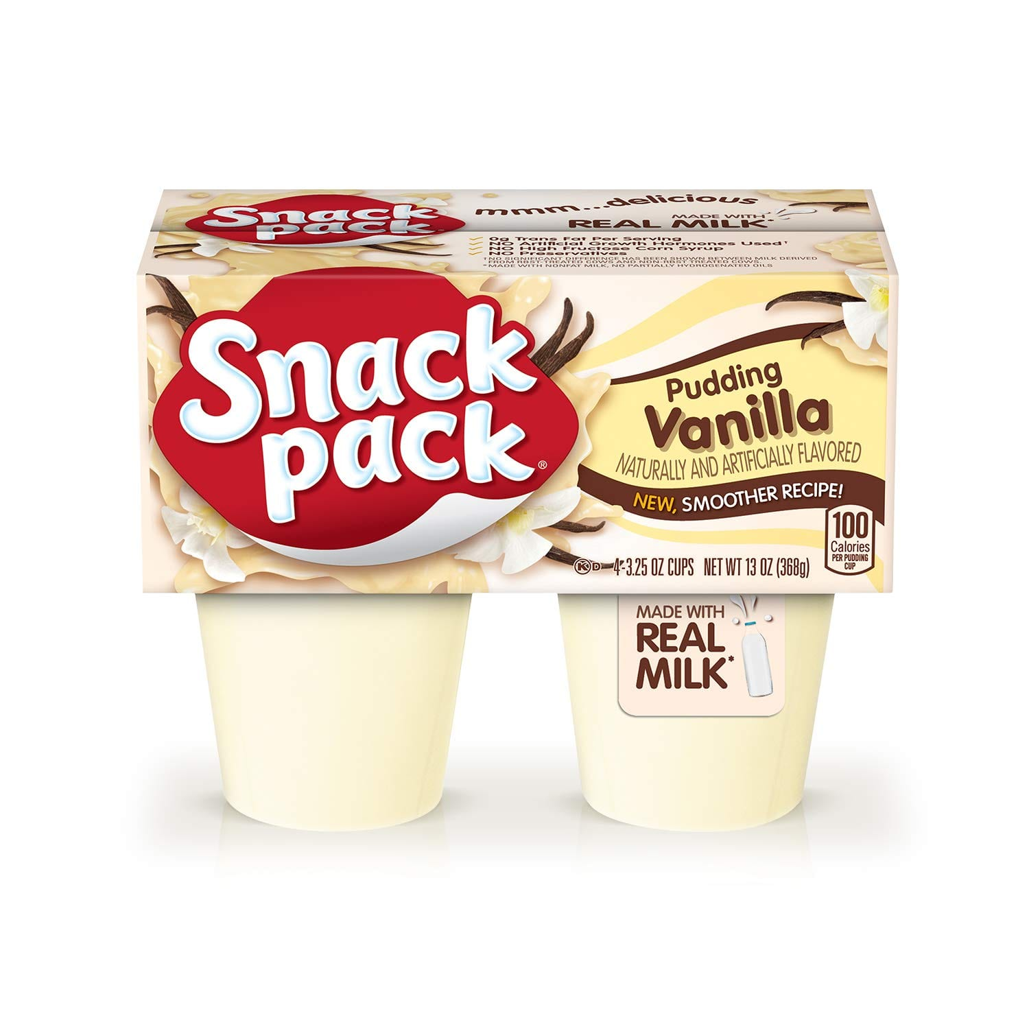 Snack Pack Pie Pudding Cups, Vanilla, 4 - 3.25 Ounce $0.94
