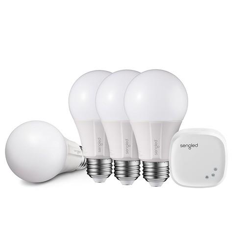 15% OFF Sengled Element Classic A19 Starter Kit (4 Bulbs+Hub) - 60W Equiv. Soft White (2700K) Smart LED Bulb (C/W AMZN Alexa, GOOG Assistant, Wink, SmartThings) + Free S/H @ $59.49