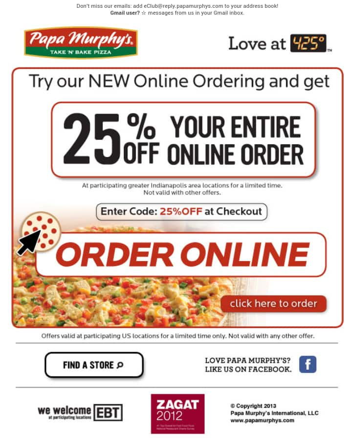 Papa murphys coupon code