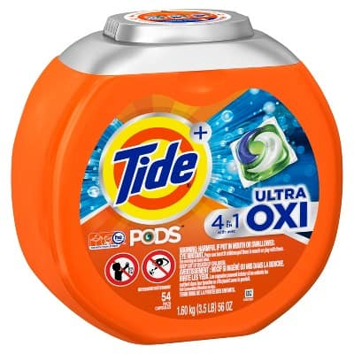 Tide Pods Pacs Ultra Oxi - 54ct  $8.09 plus 10% off - Target