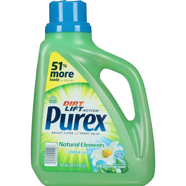 Purex Liquid Natural Elements Laundry Detergent, Linen & Lilies, 75 oz (50 loads) $3.25 + w/ S&S + Free S&H