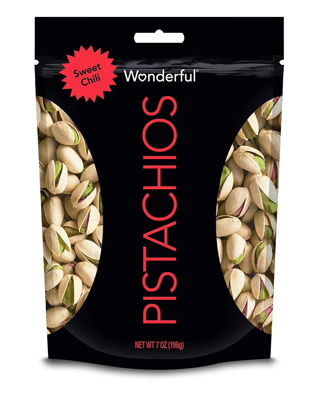Wonderful Pistachios Sweet Chili Pouch, 7 Ounce - $2 Amazon