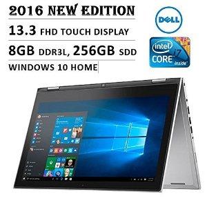 "Dell Inspiron 13 i7359 CONVERTIBLE 2-IN-1 Laptop: Core i7-6500U, 256GB SSD, 8GB, 13.3"" (1920x1080) FULL HD TOUCHSCREEN, Backlit Keyboard, Stylus Pen, Certified Refurbished $599"
